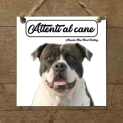 2019 Nuovo Stile Alapaha Blue Blood Bulldog Piastrella Cartello Attenti Al Cane