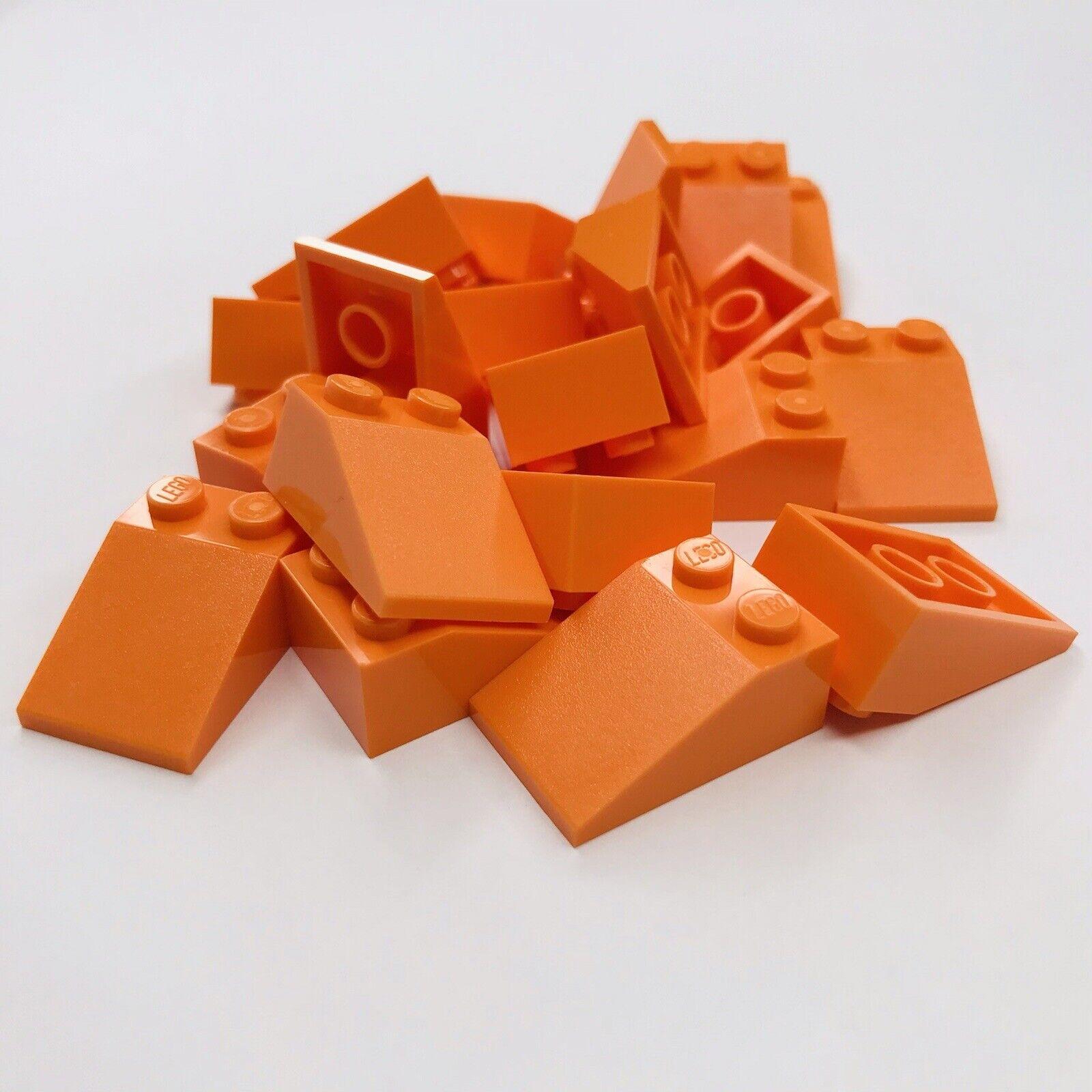 LEGO PARTS-BRAND NEW-#3298-ORANGE-SLOPE 33  3X2-50 PIECES