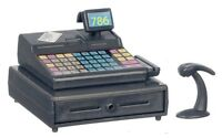 Dolls House Modern Cash Register Till With Scanner Miniature Shop Accessory