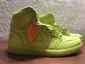 87a1060fd2d8 Nike Air Jordan 1 Retro Hi OG G8RD Gatorade Cyber Yellow Lemon Lime ...