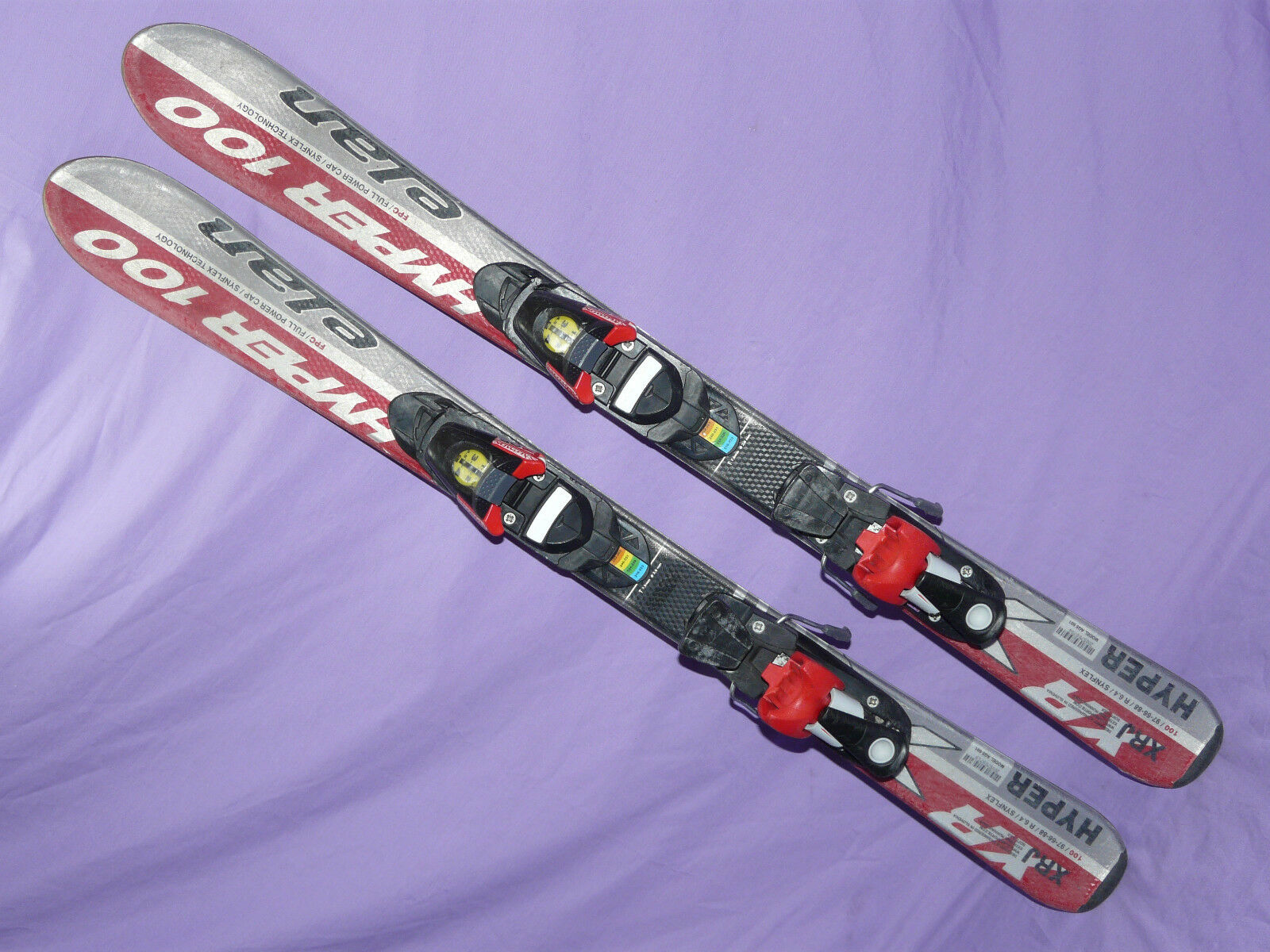 Elan Hyper XRJ  100cm Kids Skis SALOMON 305 Bindings w  adjustable toes & heels ✻  quality first consumers first