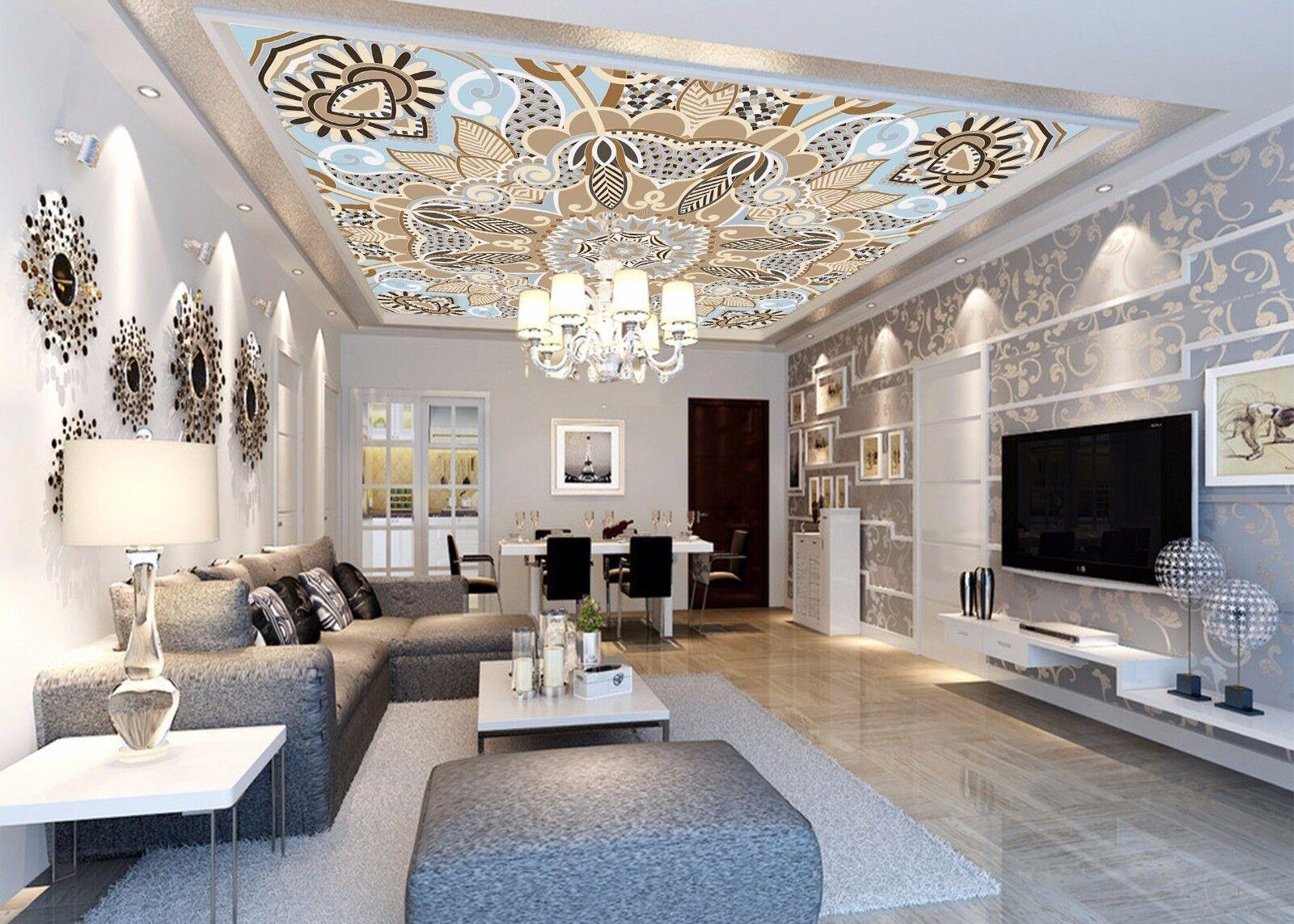 3D Warm Style 743 Ceiling WallPaper Murals Wall Print Decal Deco AJ WALLPAPER GB