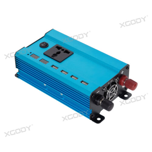 3000W//4000W//5000W Car Power Inverter DC12V to AC110V//220V LCD 4 USB Chargers W2