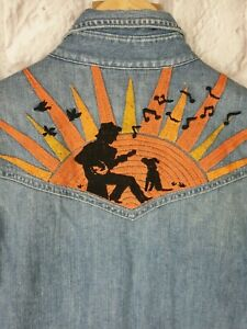 Levis-Vintage-Clothing-LVC-Blue-Denim-Western-Embroidered-L-S-Shirt-235-S-USA