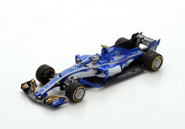 Spark Model 1:43 S5033 Sauber C36 F.1 Ferrari  94 Bahrain GP 2017 Wherlein NEW