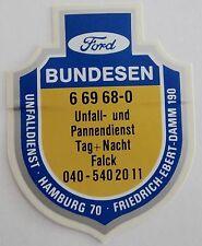 Aufkleber Plakette FORD BUNDESEN HAMBURG 70 HH Falck Oldtimer Sticker 80er