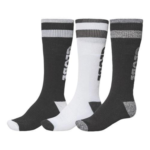 Globe de nouveaux hommes pack de 3 long chaussettes de sport//skate noir//blanc bnwt