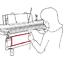 Indexbild 4 - 3x Abdeckkappen für Brother Doppelbett-Ergänzung KR850 KR8xx 710 Strickmaschinen