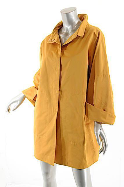 PIAZZA SEMPIONE Mango Poly Silk Blend Light Coat w Hidden Snaps- PRETTY - 38 US8
