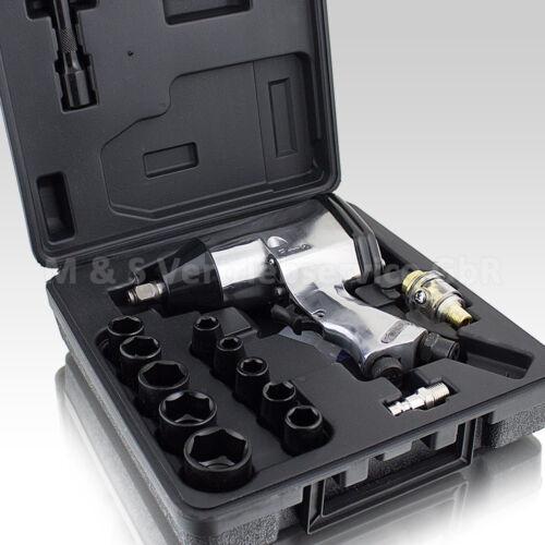 """BITUXX® 17tlg Druckluft Schlagschrauber Set  1//2/"""" Druckluftschrauber 340Nm"""