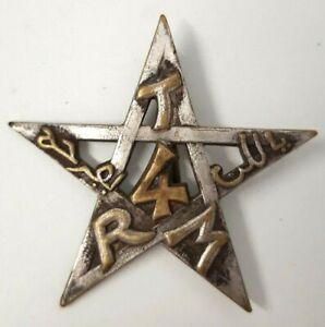 4-Regiment-de-Tirailleurs-Marocains-dos-lisse-epingle-a-bascule