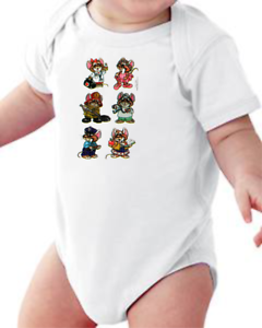 Details about  /Infant creeper bodysuit One Piece t-shirt Dr Doctor Mouse k-625