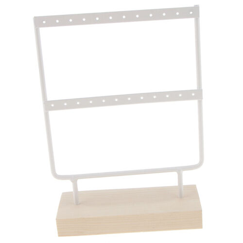 Creative Wood Metal Earring Necklace Jewelry Display Rack Stand Organizer Holder