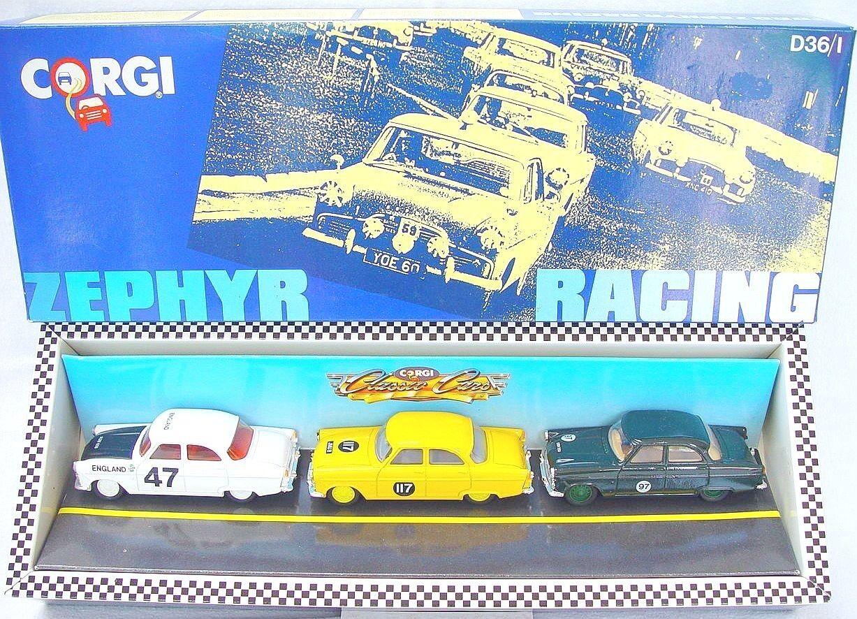 Corgi spielzeug 1 43 ford zephyr afrikanischen & touring rallye racing 3 wagen set mib ` 89
