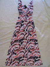 TART Collections 'Adrianna' Sz XS Fan Feather Print Maxi Dress NWT Beautiful