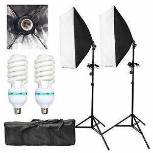 2x-135W-Photography-Studio-Softbox-Continuous-Lighting-Soft-Box-Light-Stand-Kit