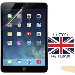 reputable site 64311 d0d83 Details about iPad Air 2 Clear Plastic Screen Guard LCD Protector Film  Layer For Apple