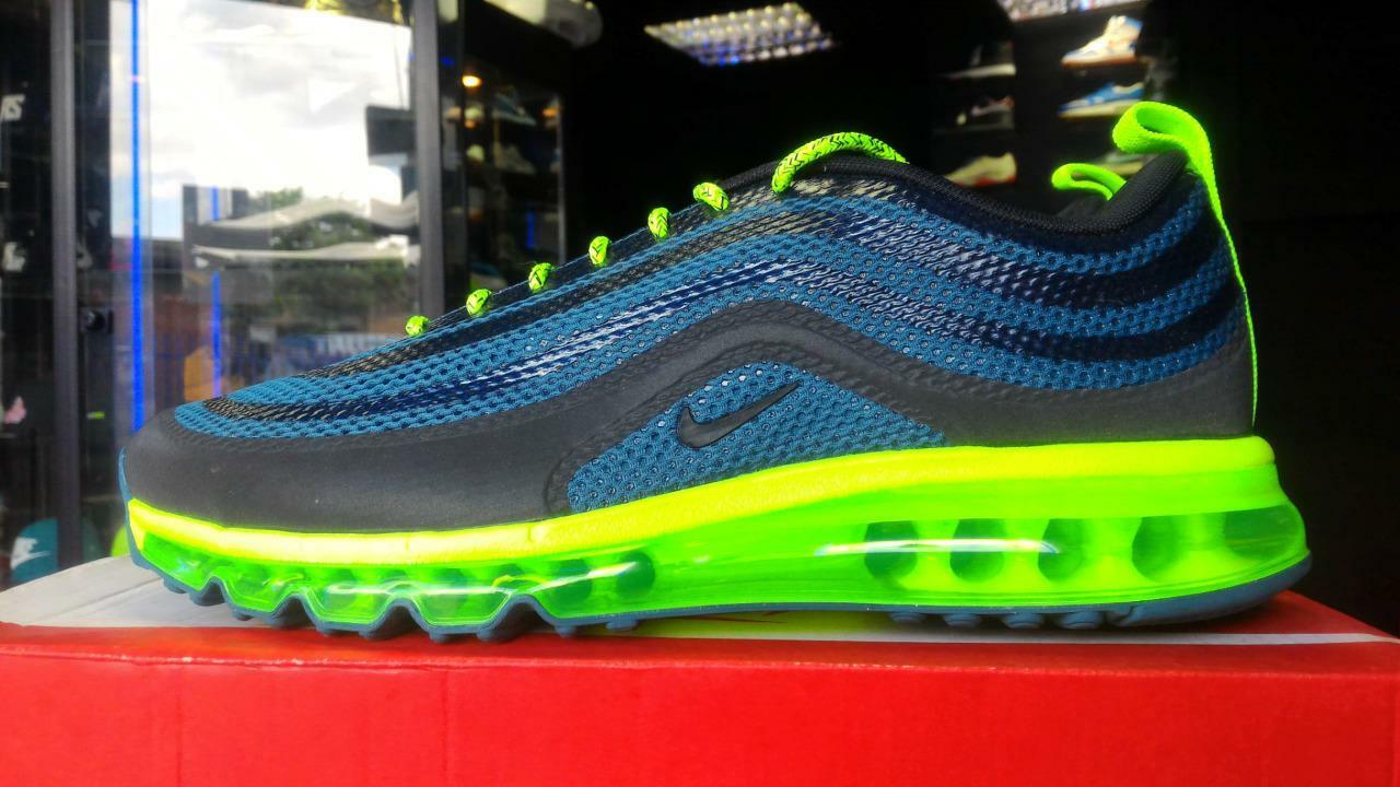 NIKE AIR MAX 97-2013 HYPERFUSE NIGHT FACTOR NEON DS QS RARE 95 90 98 1 TN UK7