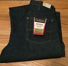 Vintage BURRS Western Sanforized Scoville Zipper Indigo Denim Jeans. Size 34x33