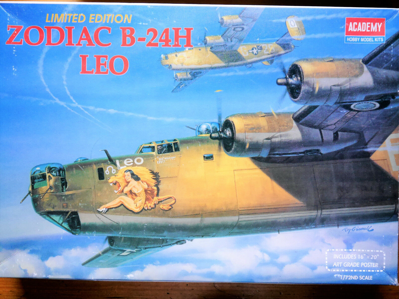US Air Force ZODIAC B-24H B-24H B-24H  LEO , Academy Hobby Kits  2172 LIMITED 1 72 boxed  | Exquisite Handwerkskunst