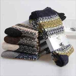 5-Pairs-Lot-Men-039-s-Wool-Cotton-Warm-Winter-Thick-Casual-Dress-Soft-Fashion-Socks