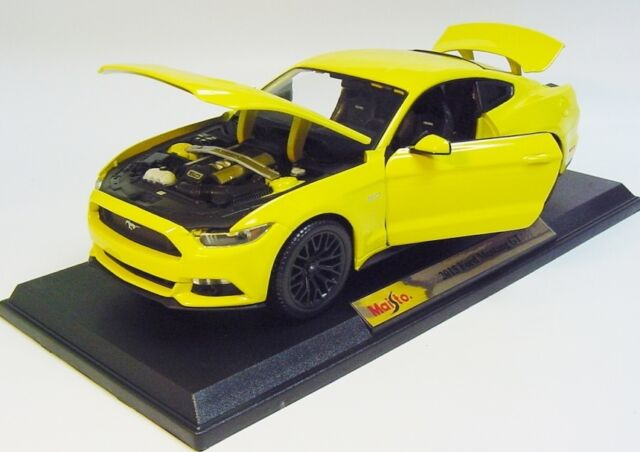 1:18 MAISTO 2015 FORD Mustang GT 5.0 Fastback yellow SPECIAL EDITION COLLECTIBLE