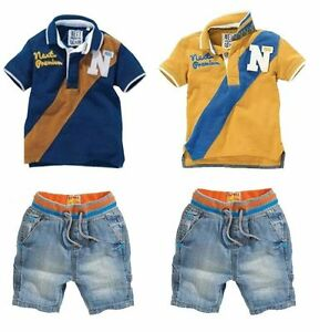 New!2Pcs Baby Boys Dress Cowboy T-Shirt + Pants Set Kids ...