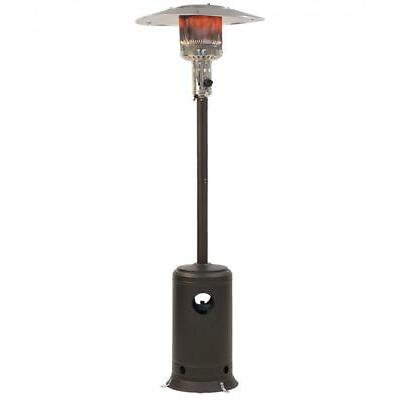 Patio Heater Tall Mocha Finish Garden Outdoor Heater Propane Standing LP Gas H87