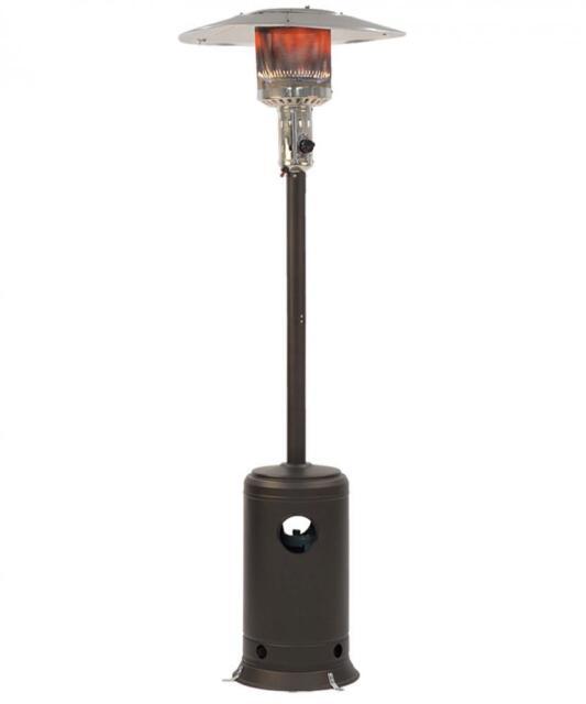 Patio Heater Tall Mocha Finish Garden Outdoor Heater Propane Standing LP Gas  H87