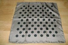 "Handmade soft silk scarf 17"" square hand printed polka dot hand rolled"