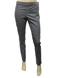 Womens F F Trousers Slim Skinny Fit Soft Cotton Dark Grey Size 6 to ... f1aa82052