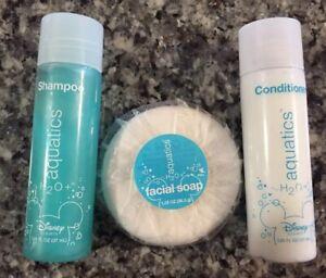 Walt-Disney-Resorts-resort-Room-FACIAL-SOAP-Shampoo-amp-Conditioner-aquatics-NEW