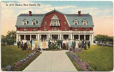 K. of P. Home in New Castle PA Postcard 1920