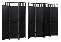 Solid Wood Room Screen Divider Black Finish 3 Or 4 Panel