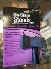Value Bundle 5-pack On-Stage Stands MY200 Clothespin Style Plastic Micropho.