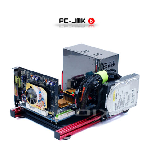 Mini ITX Aluminum Computer Case Chassis Tester Wide Open Nude Bare Frame PC-JMK6