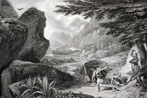 LOUIS-VII-SARASINS-DEFILE-LAODICEE-1148-CROISADE-GRAVURE-1838-R2627