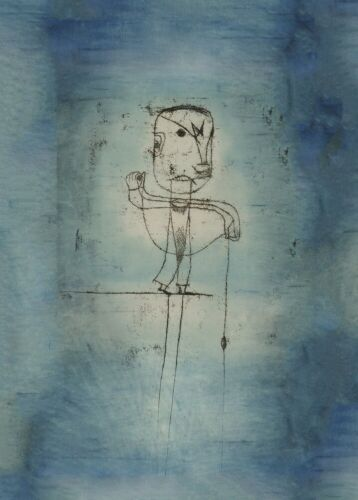 Cubism Bauhaus Poster The Angler 1921 PAUL KLEE  Surrealism