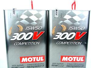 Aceite-de-Motor-15W50-10Liter-Motul-300V-Competencia-Ester-Core-Deporte-Carreras