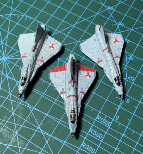 3 Metal Vehicles 1989 OOP Triax Fighter Bombers Kenner Mega Force