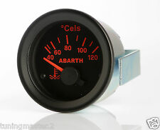 Manometro Strumento Road Italia Abarth Delta Temperatura Acqua 40-120° 52mm Nero
