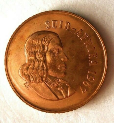 South Africa Bin #B 1967 SOUTH AFRICA CENT FREE SHIP Low Mintage Proof
