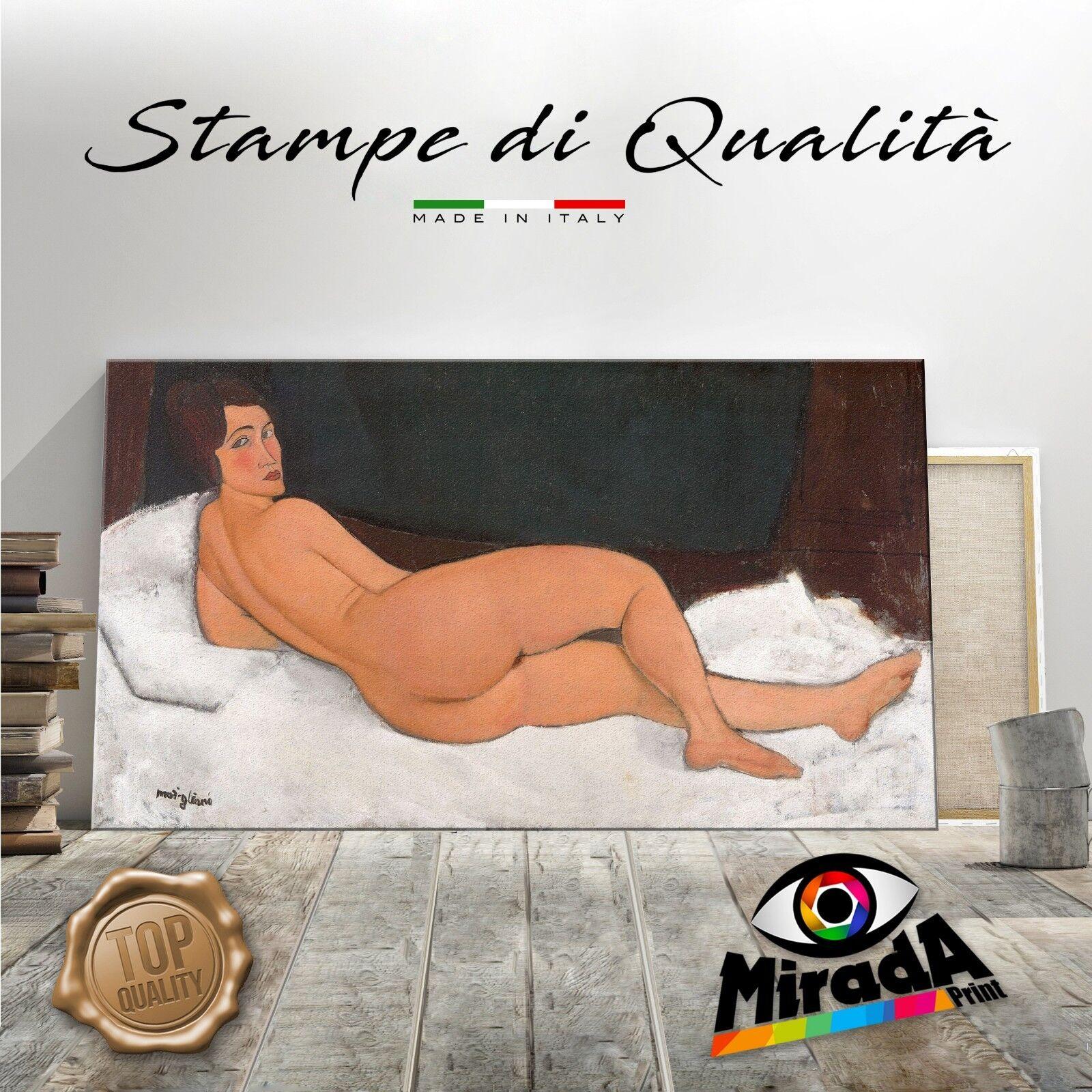Amedeo Modigliani Nudo sul lato sinistro Giclée Fine Kunst QUADRO CANVAS  BODY