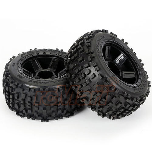 Pro-Line 3.8inch Badlands Tire Desperado 17mm 1//2 Offset MT Wheel Truck #1178-11