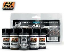 AK Air Series: Exhaust Stains Weathering Set (5 Colors) 35ml Bottles AKI 2037