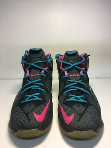 premium selection d235b 3dc59 Image is loading Nike-Lebron-12-23-Chromosomes-GS-Size-5-