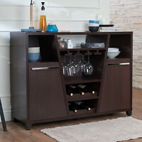 Buffet Sideboard Cabinet Dining Server Storage Table Kitchen Wine Bottle Shelf