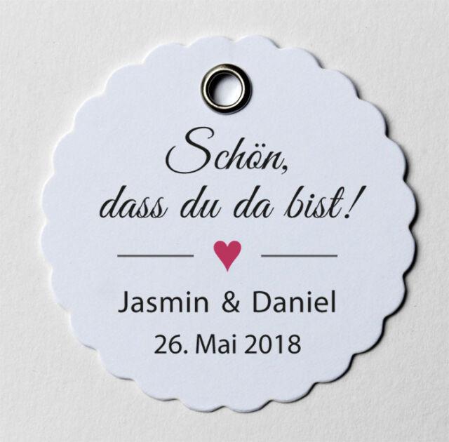 Schmetterlinge Danke Geschenkanhänger Gastgeschenk Name Datum Ø5cm Hochzeit