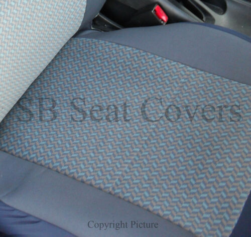 TO FIT A FIAT PANDA CHEVRON BLUE FABRIC CAR SEAT COVERS