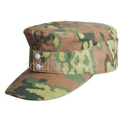 WWII GERMAN OAK LEAF CAMO SPRING CAP HAT SIZE L-33864